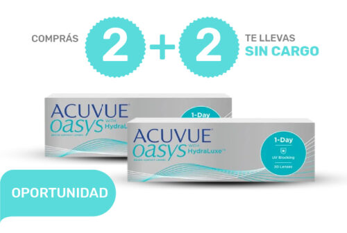 PROMO 2+2 ACUVUE OASYS 1-Day con HydraLuxe